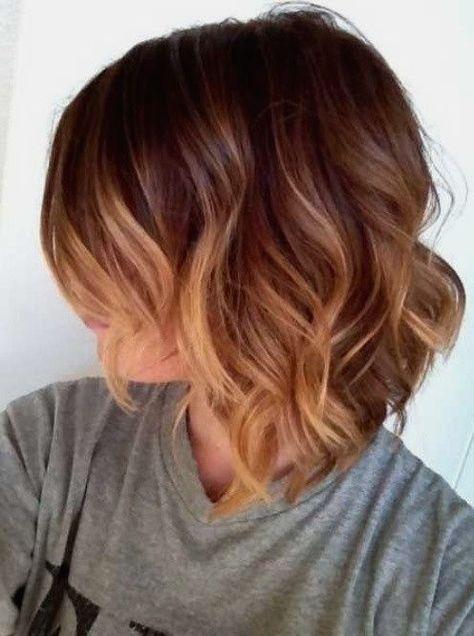Bildergebnis Für Ombre Hair Braun Blond Kurz Ombré Haare