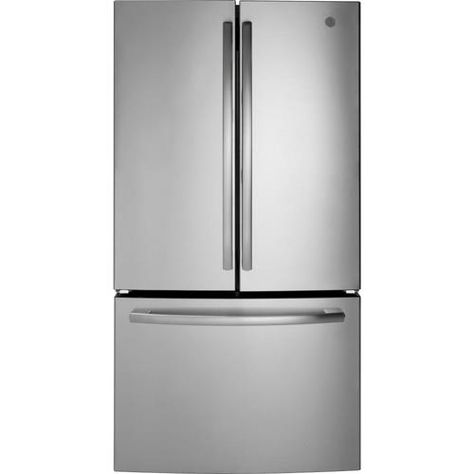 Shop Ge 27 Cu Ft French Door Refrigerator With Ice Maker Stainless Steel Energy Star In The F In 2020 French Door Refrigerator French Doors French Door Refrigerators