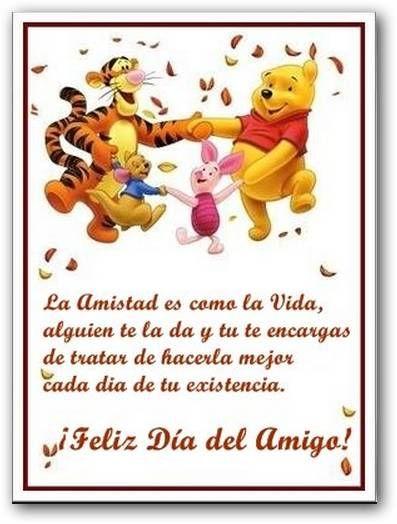 Ideas Nuevas Para El Dia Del Amigo Pooh Disney Friendship