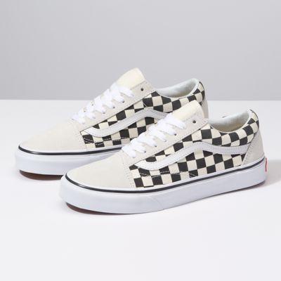 vans checkerboard blanche