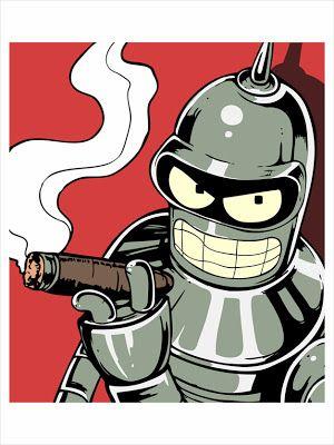 """Futurama Art Bender """"Insert Girder Here"""" by Julie Lundy - The Incredible Art Gallery Cartoon Kunst, Cartoon Art, Cartoon Characters, Futurama Bender, Sketch Manga, Arte Pop, Art Graphique, Silk Screen Printing, Urban Art"""