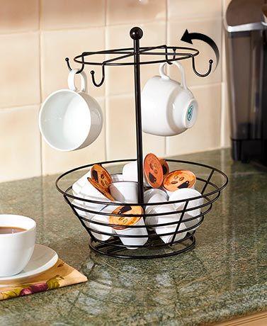 Coffee Pod And Cup Carousel Coffee Pod Storage Kitchen Decor Coffee Kitchen