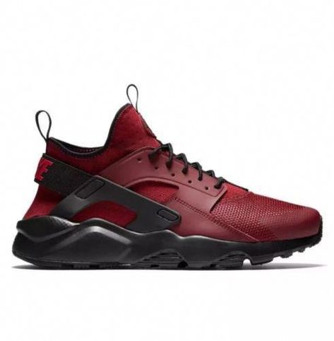 the latest 5b355 416f1 New Nike Huarache Run Ultra Red Maroon Gym Black Running (819685-601) Size  10.5