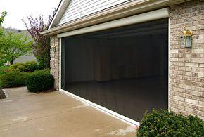 Pull Down Retractable Screens Diy Screen Door Garage Door Design Outdoor Shade