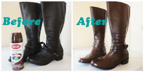 The Lovely Side Diy Spray Painting Leather Boots Because