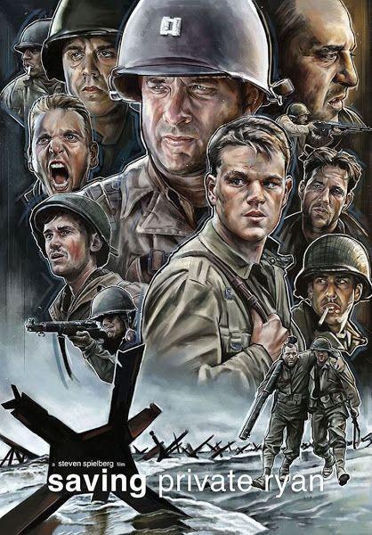 Saving Private Ryan 1998 Dual Audio Hindi Dd5 1 720p Bluray Esubs Download In 2020 Movie Posters Saving Private Ryan War Movies