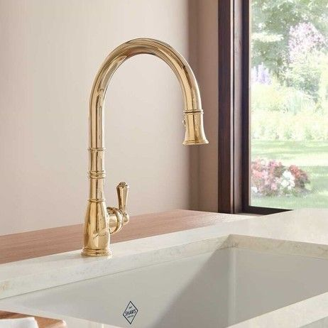 The Rohl Perrin Rowe Georgian Traditional Pull Down Faucet Is