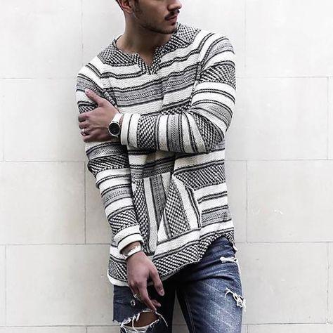 Casual V Neck Long Sleeve Stripe Sweater – yatacityshop