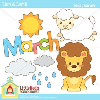 March Clipart Lion And Lamb Lion And Lamb Clip Art March Clipart