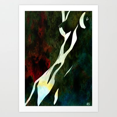 nude number nine Art Print by Giuseppe Cristiano