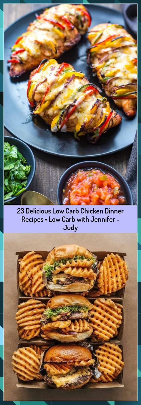 23 Delicious Low Carb Chicken Dinner Recipes • Low Carb with Jennifer - Judy #Carb #Chicken #Delicious #Dinner #Jennifer #Judy #Recipes