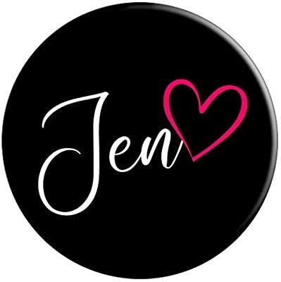 Jen First Name Handlettering Personalized Pink Heart Popsockets Grip And Stand For Phones Tablets Calligraphy Name Galaxy Phone Wallpaper First Names