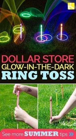 camp activities Use glow sticks and glow-in-the-dark necklaces from the dollar store to create a nighttime ring toss game perfect for summer evenings. My kids are obsessed with these summer bucket list activities, and I hope your kids will enjoy them too! Summer Party Games, Outdoor Party Games, Kids Party Games, Fun Games, Sleepover Games, Camping Party Activities, Summer Camp Games, Summer Parties, Games For Teens