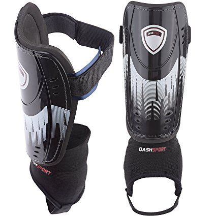 Soccer Shin Guards Youth Sizes By Dashsport Best Kids Soccer Equipment With Ankle Sleeves Great For Boys Soccer Equipment Soccer Shin Guards Kids Soccer