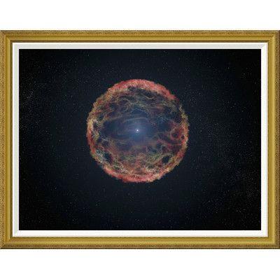 Global Gallery 'Artist's Impression of Supernova 1993J' by NASA Framed Graphic Art Size: 36