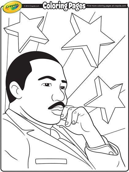 Martin Luther King Jr On Crayola Com Martin Luther King Junior Coloring Page Crayola Cray In 2020 Coloring Pages Free Coloring Pages Black History Activities
