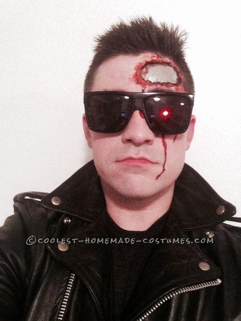 Homemade Terminator T-800 Costume... Coolest Halloween Costume Contest