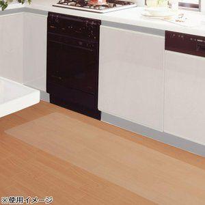 貼ってはがせる 透明キッチンマット 45 120cmフィルター デスクカバー