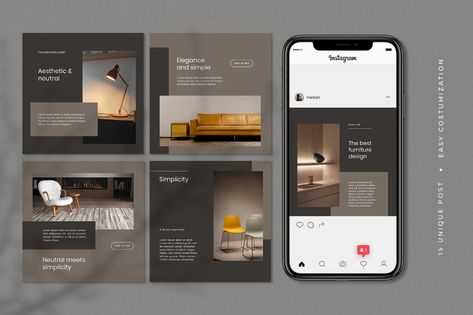Furniture Instagram Post Template Social Media
