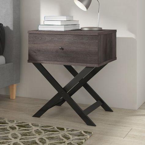 Nachttisch Nathanial Modernmoments Farbe Basis Top Schwarz