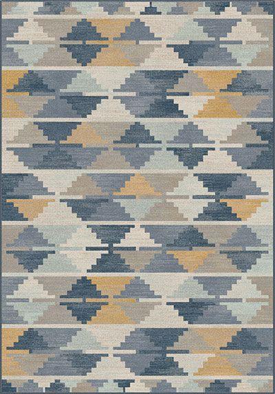 Aztec Indigo Rugs On Carpet Patterned Carpet Rugs