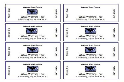Event Ticket Template Free Printable Event Ticket Templates Free - free printable event ticket templates