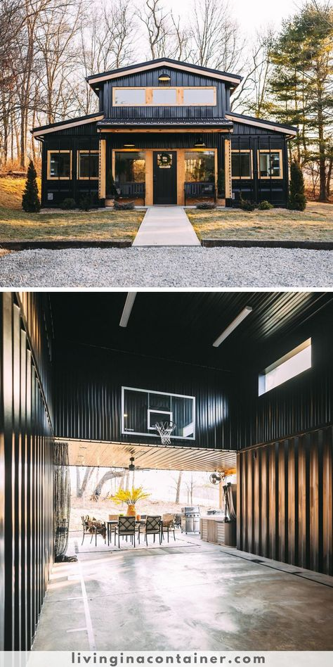Another creative shipping container transformation from Creative-Cabins. We really love the projects of this team. Because they have a magnificent vision. #shippingcontainerhomes #shippingcontainercabin #containerhouse #containerhousedesign #containerbuildings #containercabin #luxuryhomes #containerhomes #housedesign #beforeandafterhome
