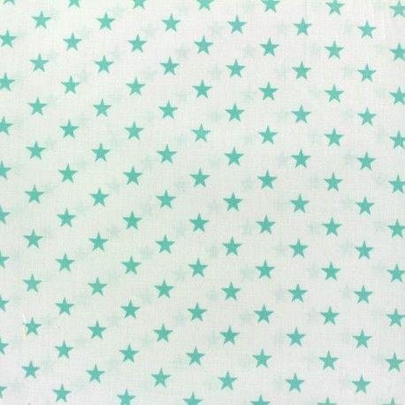 Tissu Etoiles Vert D Eau Blanc X 10cm Tissu Vert Tissu Eau Blanche