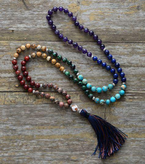6mm 108 Color Turquesa Perlas Colgante Pulsera de rezar Hecho a Mano Lucky Espiritualidad