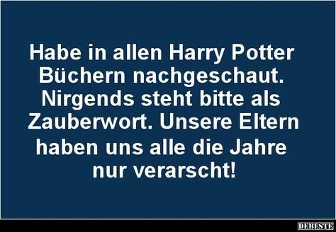 Habe in allen Harry Potter Büchern nachgeschaut.. | Lustige Bilder, Sprüche, Witze, echt lustig