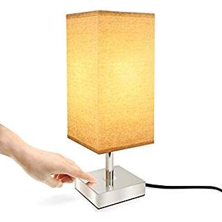 Touch Control Lamp Aooshine Minimalist Bedside Table Desk Lamp Modern Accent Lamp Dimmable Touch Sensor Light With Square L Lamp Modern Desk Lamp Touch Lamp
