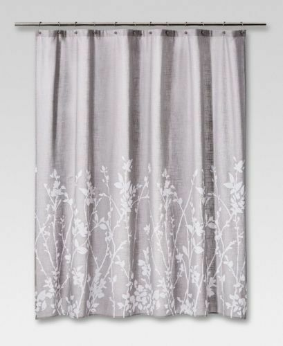 New Project 62 Fabric Gray White Branches Shower Curtain Target