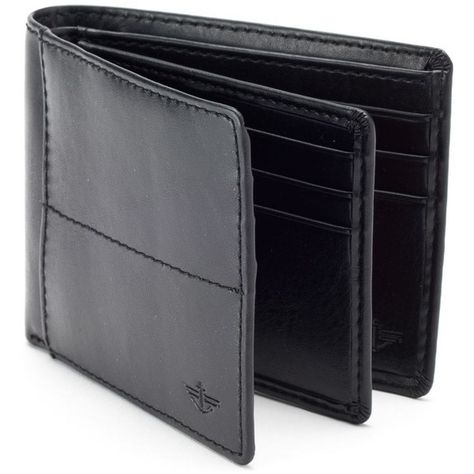 Men S Dockers Extra Capacity Bifold Wallet 23 Liked On Polyvore Featuring Men S Fashion Men Mens Leather Wallet Bifold Bifold Wallet Men Bi Fold Wallet
