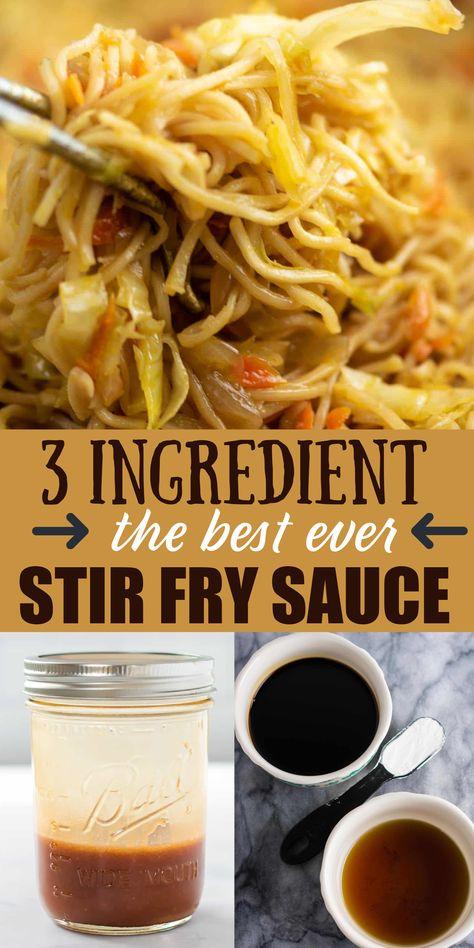 Stir Fry Recipes, Sauce Recipes, Cooking Recipes, Bread Recipes, Cooking Tips, Keto Recipes, Wok Sauce, Chutneys, Homemade Stir Fry Sauce