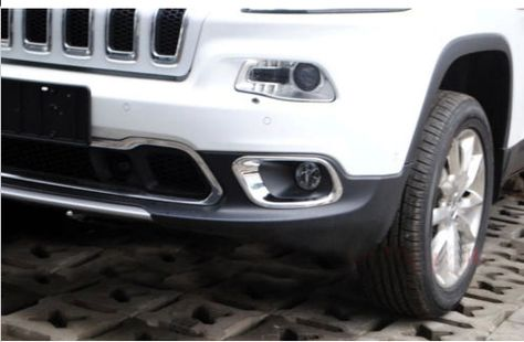 Chrome Front Bumper Fog Cover Trim For 2014 2015 Jeep Cherokee Jeep Cherokee 2015 Jeep Jeep