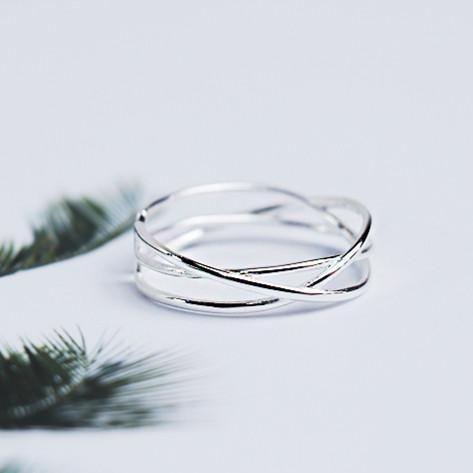 Very fine minimalist silver ring