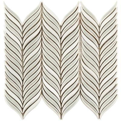 Splashback Tile Oracle Alula Tundra 10 1 4 In X 11 7 8 In X 10mm Glazed Ceramic Mosaic Tile Ceramic Mosaic Tile White Ceramic Tiles Mosaic Tiles