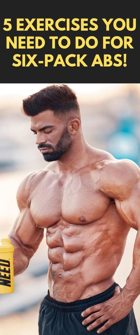 5 Exercises You Need To Do For Six-Pack Abs! #fitness #bodybuilding #gym #Abs #workout #Six-Pack
