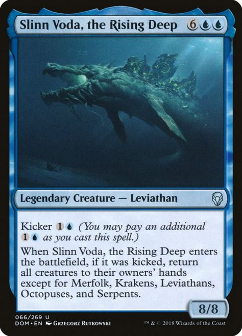 English Commander 2014 MTG Magic 4x Deep-Sea Kraken NM-Mint