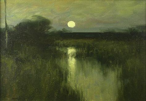 Dennis Sheehan painting - Full Moon On A Marsh (item #1276579, detailed views)