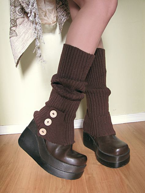 Platform boots I scored from the thrift store Mode Alternative, Alternative Fashion, Alternative Outfits, Pretty Outfits, Cool Outfits, Fashion Outfits, Gyaru Fashion, Witch Fashion, 2000s Fashion