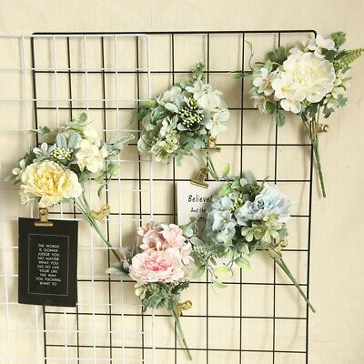 Details About 1 Bouquet Camellia Artificial Rose Flowers Silk Fake Floral Home Wedding Ca In 2020 Artificial Flowers Plant Wall Rose Flower