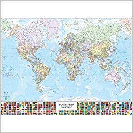 Cartina Geografica Mondo Gratis.Scaricare Carta Geografica Murale Belletti Mondo 99x132 Cm