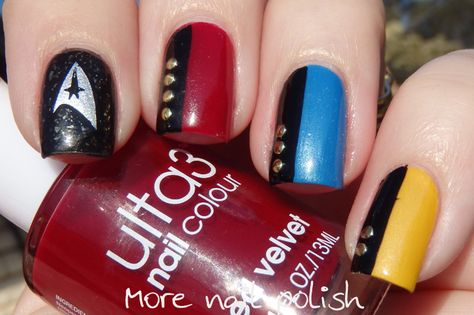40 Great Nail Art Ideas - Geeks - Star Trek nails ~ More Nail Polish