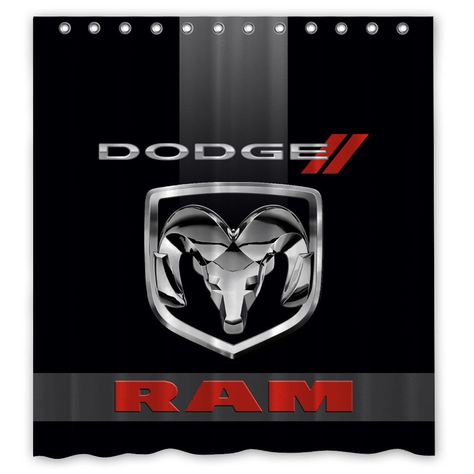 Dodge RAM Logo Automotive Custom Design Shower Curtain 60x72