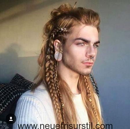 3 Men Long Braid Hairstyle 2017113098 Lange Haare Manner Zopf Lange Haare Lange Haare