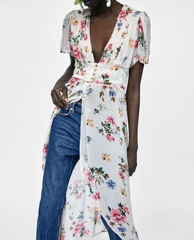precio de calle donde puedo comprar nueva productos calientes Imagen 5 de BLUSA LARGA ESTAMPADO FLORAL de Zara | All about ...