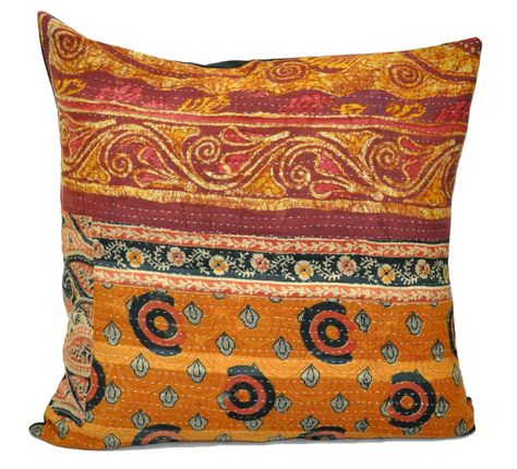 24 Extra Large Sofa Throw Pillows Indian Kantha Cushion Cute