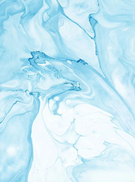 Water Color Oceanic Baby Blue Marble Backdrop - 6856