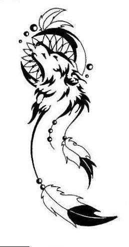 Tattoos On Neck Wolf Dreamcatcher Tattoo Tribal Tattoo Designs Tribal Tattoos